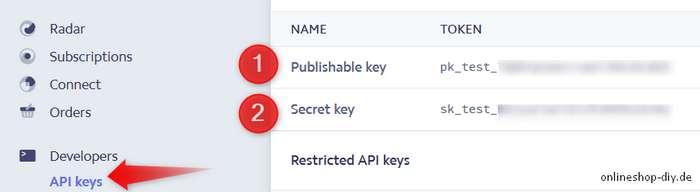 API-Keys eingeben