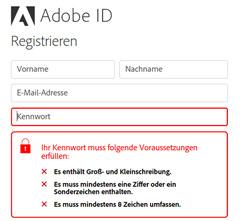 Adobe Kennwort