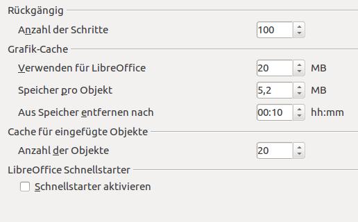 LibreOffice Cache