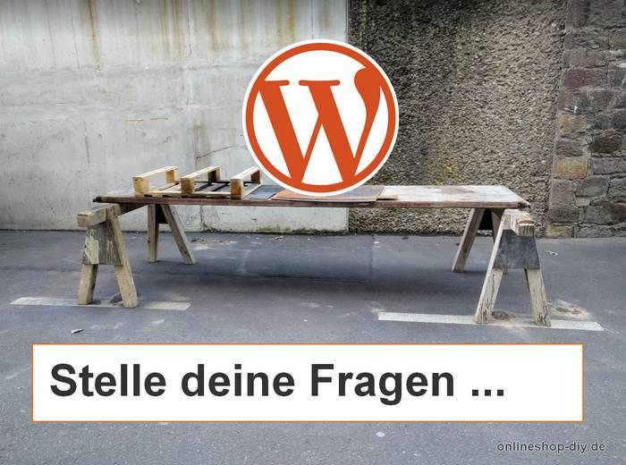 WordPress-Anfänger fragen