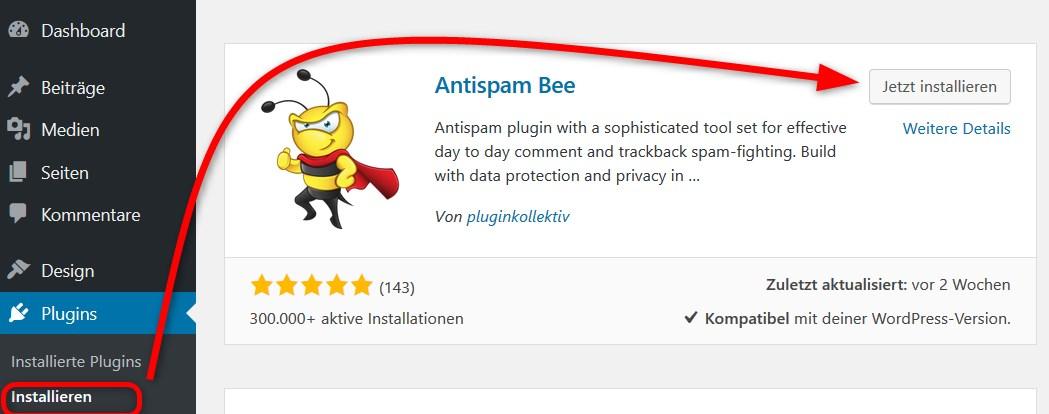 Antispam Bee installieren