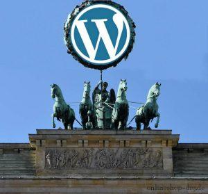 Quadriga mit WordPress-Logo