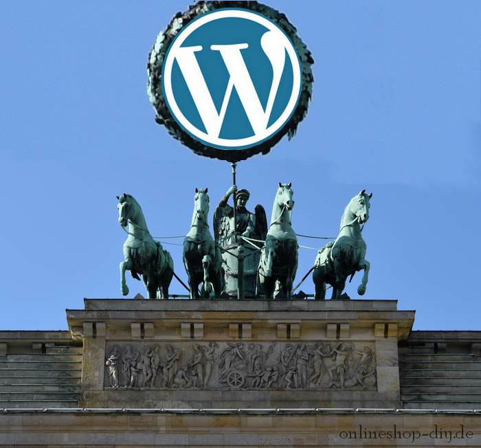 Quadriga mit WordPress-Logo