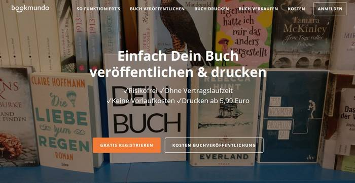 Selfpublishing mit Bookmundo