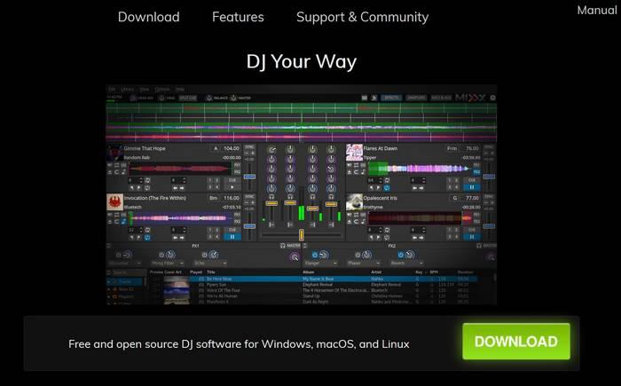 Kostenlose DJ-Software Mixxx