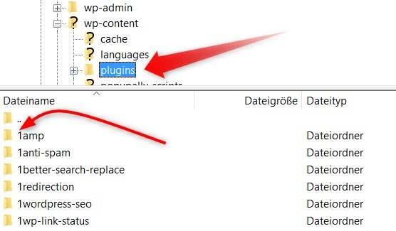 Plugins via FTP deaktivieren