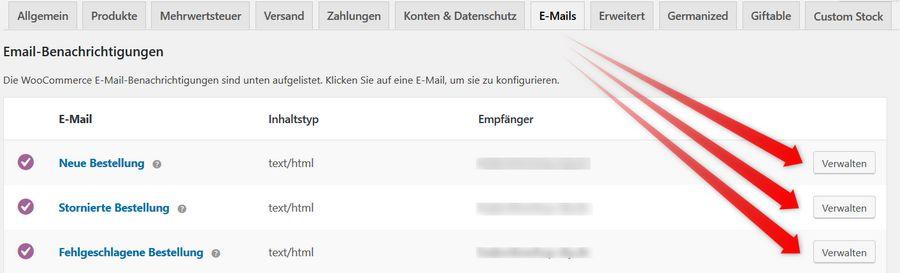 Mailverwaltung